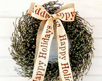 Christmas Wreaths-Holiday Wreath-Winter Wreath-Holiday Door Decor-CHRISTMAS Decor-Holiday Home Decor-Scented Wreath-Gift for Mom-Gifts
