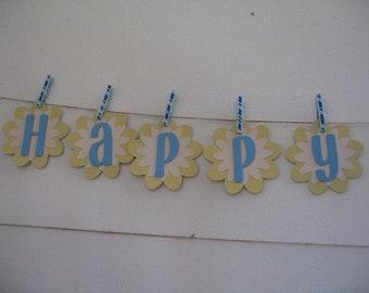One custom made to order  birthday banner