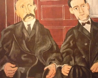 Vintage - Ben Shahn, Sacco and Vanzetti, 1931-32  - American realist - for art lovers - color plate exhibition cataloge 1947 gift framable
