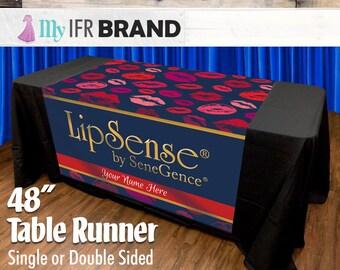 LipSense Single or Double Sided Table Runner - Lips 03