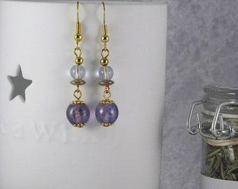 Handmade Sheer Iris Drop Earrings