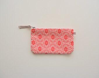 Cotton Pouch, Cotton Wristlet, Wallet