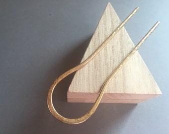 Hammered Brass Hair Stick