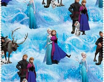 Disney FROZEN, Character Scenic Fabric, 1/2 Yard