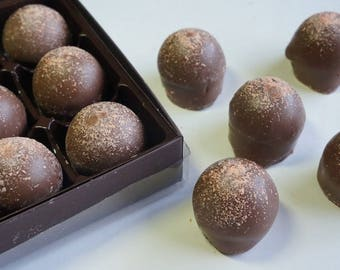 Milk Chocolate Grand Marnier Truffles 15pc. box w/clear top