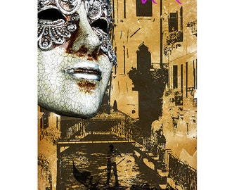 Venice, Colorful Wall Art, Digital Art, Printable Poster, Digital Download, Printable Photography, Printable Art,  Photographic Collage