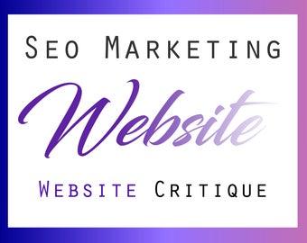 Website Review, Website Critique, SEO Help, SEO Keywords, Website Tips, Shop Help, Online Marketing