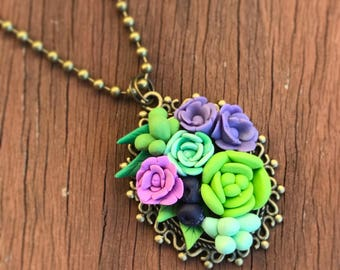 Succulent and Flower Mix Pendant
