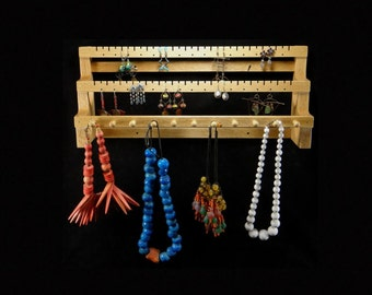 Hanging Earring and Necklace Holder Earring Holder Earring Storage Earring Display Necklace Display Necklace Storage