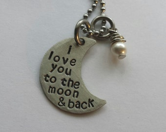 JBK Small I love you to the moon and back necklace