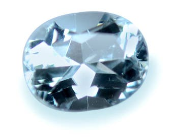 1.42 Ctw Promotion In Auction Bid Oval Aquamarine And Get Free Round One Too