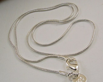 Sterling Silver Snake Chain - various sizes - 16, 18, 20, 22 , 24, 26, 28 and 30 inches