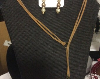 Choker Style Necklace and matching Earrings