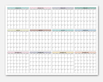 week at a glance calendar 2018