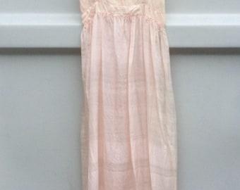 Vintage Antique 1900's Ballet Style Silk Lace Dress Nightgown