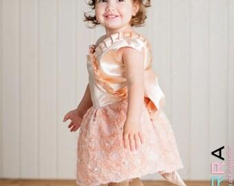 Kamea- Girl Dress and Hand-made hair accessory