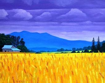 Wheat Fields Near Scravel Hill - Painting