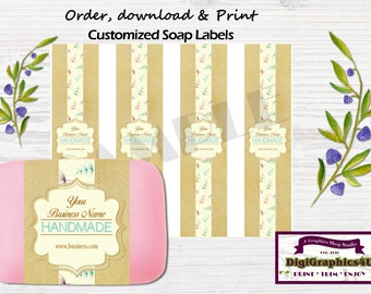 Handmade Soap Labels or Soap Wrappers Customized for your Business