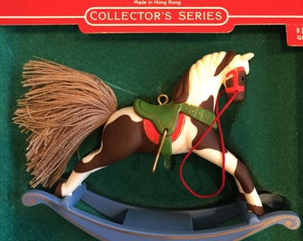 Vintage Christmas Hallmark Ornament 1985 Rocking Horse