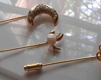 3 Vintage Stick Pins