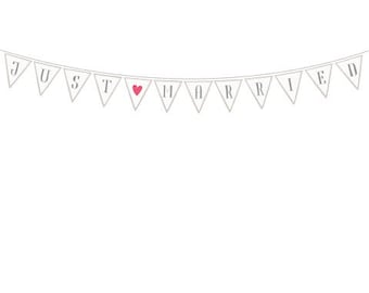 Just Married - Wedding Paper Garland
