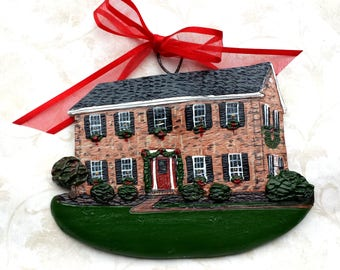 Custom listing for RFan- three Custom House Ornaments