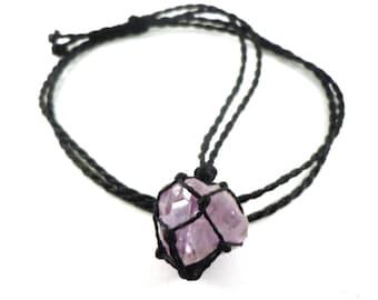 Amethyst necklace, February Birthstone, raw amethyst, sobriety necklace, healing crystal, nomad jewelry, Aquarius gift, amethyst jewelry
