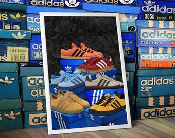 ADIDAS Originals Island Series Trianers A3 Print  Limited Edition Samoa Jamaica Hawaii Tahiti Cancun Trinidad