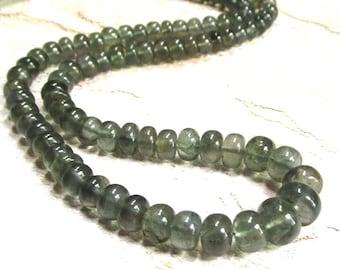 Natural Aquamarine Rondelle Beads 6mm 8mm 9mm, Natural Blue Green Moss Aquamarine Gemstone