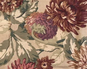 Home Decorator Fabric Floral Fabric in Earthy Colors 2 yards