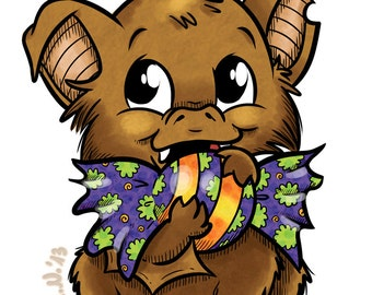 Marvin with Candy (DIGI STAMP)