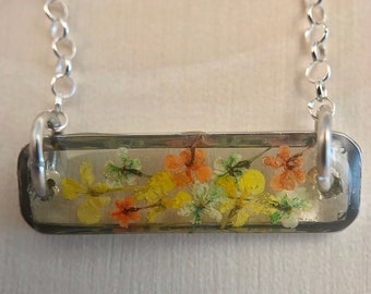 Real Flower Necklace / Dried Flower Necklace / Real Flower Jewelry / Blue Flower Necklace / Flower Jewelry / Real Flower Jewelry