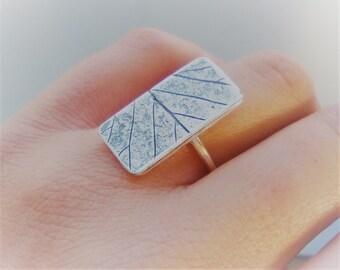 Handmade Leaf ring