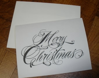 Elegant Merry Christmas Note Cards ~ N129
