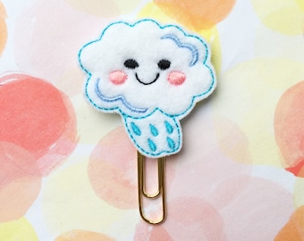 Planner Clip, Kawaii Rain Cloud