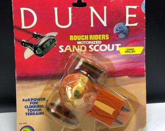 DUNE SAND SCOUT rough riders roller vehicle vintage 1984 action figure Ljn moc sealed unopened original 4x4 tough terrain