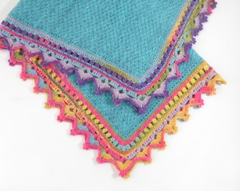 Knitted Baby Blanket - Blue