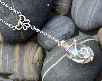 Angel Aura Silver Drop Necklace
