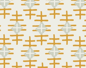 Fitted Crib Sheet | Gold and White