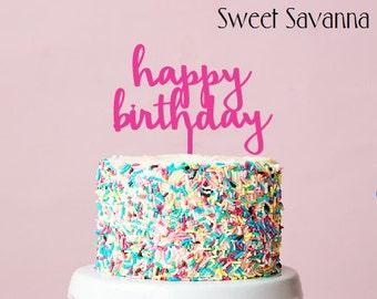 Happy Birthday Cake Topper N9 MADE IN AUSTRALIA