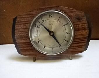 Metamec Mantel Clock/Wood & Metal/Collectable/Vintage/1960s
