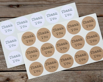 Thank You Stickers - Stickers for Wedding Favors, Jar Labels, Envelope Seals