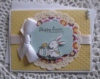 Handmade Greeting Card: Hoppy Easter