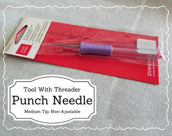 Punch Needle Tool with Threader