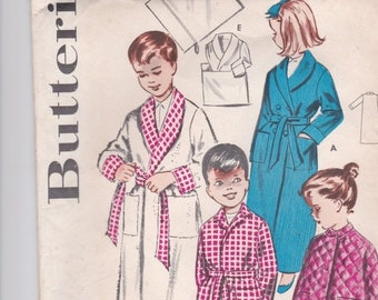 ON SALE 1960's Sewing Pattern - Butterick  9056 Childs Dressing Gown/Robe size 6 factory folded complete