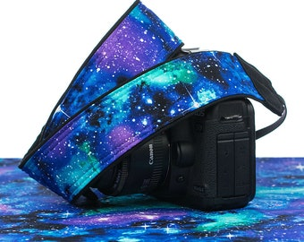 dSLR Camera Strap, Space Galaxy Stars, SLR, Pocket, Canon strap, Nikon strap, Neck strap, Mens Womens Replacement 311
