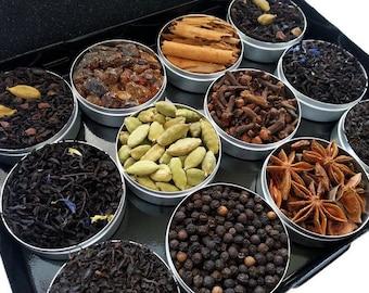 Diy Chai Tea Kit,  MOTHER'S DAY GIFT Box, Organic Spices, Indian Spice Kit, Best Friend Gift, Spiced Tea, Tea Sampler, Tea Lover Gift Box
