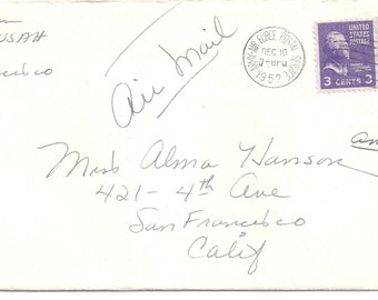 US 1952 Cover with seal stamp and in letter