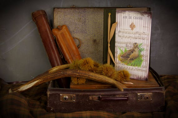The Woodcock bronze color Huntress Hunter hunting book shotgun game feathers sauvaginier red bird small game Woodcock