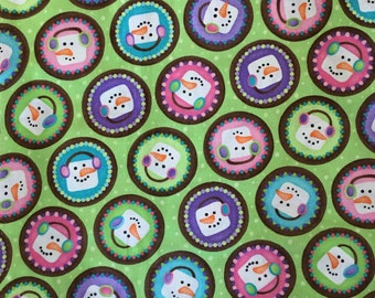SALE!!! Christmas fabric by the yard - snowmen fabric - snowman fabric